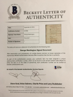 George Washington Signed 1783 Discharge Document (PSA Encapsulated & Beckett LOA) at PristineAuction.com
