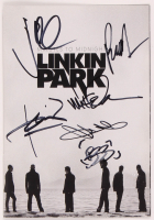 "Linkin Park ""Minutes to Midnight"" 5x7 Booklet signed by (6) with Chester Bennington, Mike Shinoda, Brad Delson, Dave Farrell, Joe Hahn & Rob Bourdon (JSA ALOA) at PristineAuction.com"