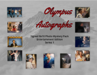 "Olympus Autographs ""Entertainment Edition"" signed 8x10 Photo Mystery Box - Series 1 at PristineAuction.com"
