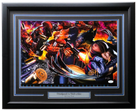 "Greg Horn Signed LE ""Deadpool vs. Wolverine"" 20x26 Custom Framed Lithograph Display (JSA COA) at PristineAuction.com"
