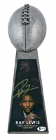 "Ray Lewis Signed Ravens 15"" Lombardi Football Championship Trophy (Beckett COA) at PristineAuction.com"