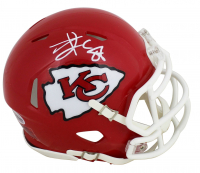 Travis Kelce Signed Chiefs Speed Mini-Helmet (Beckett COA) at PristineAuction.com