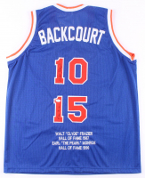 Walt Frazier & Earl Monroe Signed Career Highlight Stat Jersey (JSA COA) at PristineAuction.com