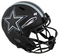 CeeDee Lamb Signed Cowboys Eclipse Alternate Speed Full-Size Helmet (Fanatics Hologram) at PristineAuction.com