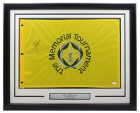 Jack Nicklaus Signed Memorial Tournament 22x27 Custom Framed Pin Flag Display (JSA LOA) at PristineAuction.com