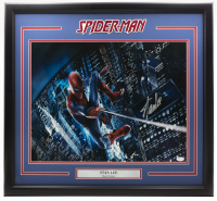 "Stan Lee Signed ""Spiderman"" 22x27 Custom Framed Photo Display (JSA COA) at PristineAuction.com"