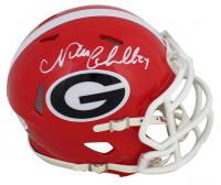 Nick Chubb Signed Georgia Bulldogs Speed Mini Helmet (Beckett COA) at PristineAuction.com