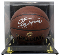 "Allen Iverson Signed NBA Basketball With High-Quality Display Case Inscribed ""The Answer"" (JSA COA) at PristineAuction.com"