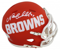 Nick Chubb Signed Browns AMP Alternate Speed Mini Helmet (Beckett COA) at PristineAuction.com