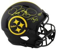 "Jerome Bettis Signed Steelers Eclipse Alternate Speed Full-Size Helmet Inscribed ""HOF 15"" & ""Bus"" (Beckett COA) at PristineAuction.com"
