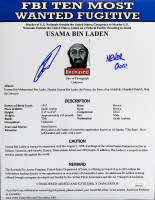 "Robert O'Neill Signed ""FBI's Ten Most Wanted: Usama Bin Laden"" 11x14 Photo (JSA COA) at PristineAuction.com"