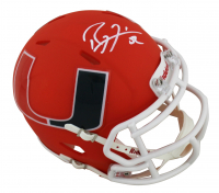 Ray Lewis Signed Miami Hurricanes AMP Alternate Speed Mini-Helmet (Beckett COA) at PristineAuction.com