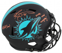 "Ricky Williams Signed Dolphins Full-Size Eclipse Alternate Speed Helmet Inscribed ""Smoke Weed Everyday!"" & ""Puff, Puff, Run!"" (JSA COA) at PristineAuction.com"