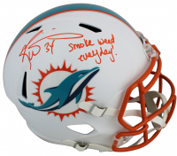 "Ricky Williams Signed Dolphins Full-Size Matte White Speed Helmet Inscribed ""Smoke Weed Everyday!"" (JSA COA) at PristineAuction.com"