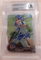 Pete Alonso Signed 2016 Bowman Chrome Draft #BDC92 (BGS Encapsulated) at PristineAuction.com