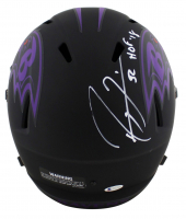 """Ray Lewis Signed Ravens Eclipse Alternate Speed Full-Size Helmet Inscribed """"HOF '18"""" (Beckett COA) at PristineAuction.com"""