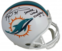 "Ricky Williams Signed Dolphins Full-Size Helmet Inscribed ""Smoke Weed Everyday!"" (JSA COA) at PristineAuction.com"