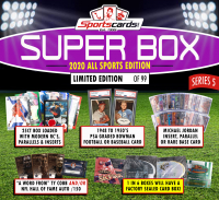 "Sportscards.com ""SUPER BOX"" 10 to 200 Cards PER BOX!! ALL SPORTS Edition Mystery Box -Series 5 at PristineAuction.com"