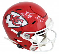 """Travis Kelce Signed Chiefs Full-Size Authentic On-Field SpeedFlex Helmet Inscribed """"SB LIV Champs!"""" (Beckett COA) at PristineAuction.com"""