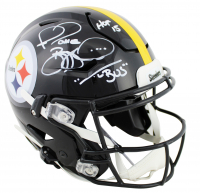 "Jerome Bettis Signed Steelers Full-Size Authentic On-Field SpeedFlex Helmet Inscribed ""HOF 15"" & ""The Bus"" (Beckett COA) at PristineAuction.com"