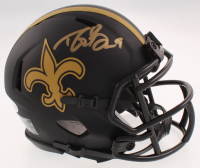 Drew Brees Signed Saints Eclipse Alternate Speed Mini Helmet (Beckett COA) at PristineAuction.com