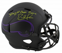 "Randy Moss Signed Vikings Full-Size Eclipse Alternate Speed Helmet Inscribed ""Straight Cash Homie"" (Beckett COA) at PristineAuction.com"