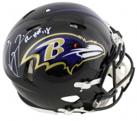 "Ray Lewis Signed Ravens Full-Size Authentic On-Field Speed Helmet Inscribed ""HOF '18"" (Beckett COA) at PristineAuction.com"