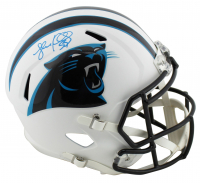 Luke Kuechly Signed Panthers Full-Size Matte White Speed Helmet (Beckett COA) at PristineAuction.com