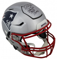 "Randy Moss Signed Patriots Full-Size Authentic On-Field SpeedFlex Helmet Inscribed ""Straight Cash Homie"" (Beckett COA) at PristineAuction.com"
