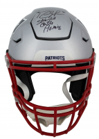 """Randy Moss Signed Patriots Full-Size Authentic On-Field SpeedFlex Helmet Inscribed """"Straight Cash Homie"""" (Beckett COA) at PristineAuction.com"""