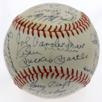 Hall of Famers & Greats OL Baseball Signed by (23) with Joe DiMaggio, Mickey Mantle, Roger Maris (PSA LOA) at PristineAuction.com