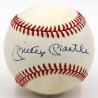 Mickey Mantle Signed OAL Baseball (PSA LOA - Auto Grade 9) at PristineAuction.com