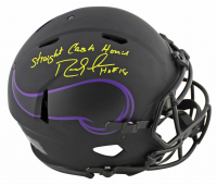 "Randy Moss Signed Vikings Full-Size Eclipse Alternate Speed Authentic On-Field Helmet Inscribed ""Straight Cash Homie"" (Beckett COA) at PristineAuction.com"
