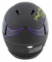 """Randy Moss Signed Vikings Full-Size Eclipse Alternate Speed Authentic On-Field Helmet Inscribed """"Straight Cash Homie"""" (Beckett COA) at PristineAuction.com"""