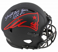 "Randy Moss Signed Patriots Eclipse Alternate Speed Full-Size Authentic On-Field Helmet Inscribed ""Straight Cash Homie"" (Beckett COA) at PristineAuction.com"