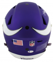 "Randy Moss Signed Vikings Full-Size Matte Purple Authentic On-Field SpeedFlex Helmet Inscribed ""Straight Cash Homie"" (Beckett COA) at PristineAuction.com"