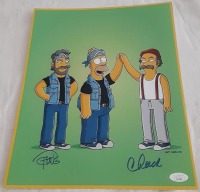 "Cheech Marin & Tommy Chong Signed ""The Simpsons"" 11x14 Photo (JSA COA) at PristineAuction.com"