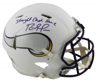 "Randy Moss Signed Vikings Full-Size Matte White Authentic On-Field Speed Helmet Inscribed ""Straight Cash Homie"" (Beckett COA) at PristineAuction.com"
