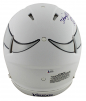 """Randy Moss Signed Vikings Full-Size Authentic On-Field Matte White Speed Helmet Inscribed """"Straight Cash Homie"""" (Beckett COA) at PristineAuction.com"""
