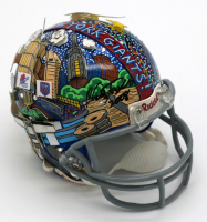 Charles Fazzino Signed Giants Hand-Painted Mini Helmet (PA LOA) at PristineAuction.com