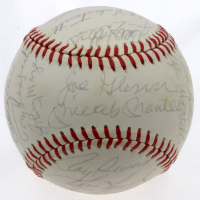 Yankees Greats OAL Baseball Signed by (28) with Mickey Mantle, Roger Maris, Yogi Berra, Bill Dickey, Phil Rizzuto, Johnny Mize (PSA LOA) at PristineAuction.com