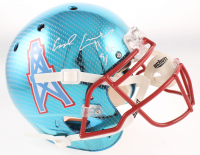 """Earl Campbell Signed Oilers Full-Size Authentic On-Field Chrome Helmet Inscribed """"HOF 91"""" (Beckett COA) at PristineAuction.com"""