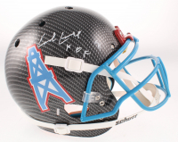 """Earl Campbell Signed Oilers Full-Size Authentic On-Field Hydro-Dipped Helmet Inscribed """"HOF 91"""" (Beckett COA) at PristineAuction.com"""