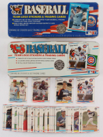 Lot of (2) Fleer Baseball Collectors Tins with Unopened 1987 Fleer Complete Set of (660) Cards & 1988 Fleer Complete Set of (660) Cards at PristineAuction.com
