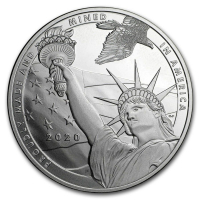 "1 Troy Ounce .999 Fine Silver ""True Patriot"" Bullion Round at PristineAuction.com"