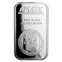 "1 Troy Ounce .999 Fine Silver ""APMEX"" Bullion Bar at PristineAuction.com"