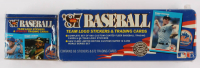 Lot of (2) 1987 Fleer Baseball Collectors Tins with Complete Set of (660) Baseball Cards & Update Glossy Factory Set of (132) Baseball Cards at PristineAuction.com
