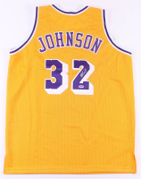 Magic Johnson Signed Jersey (PSA COA) at PristineAuction.com