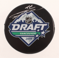 Bowen Byram Signed 2019 NHL Draft Logo Hockey Puck (COJO COA) at PristineAuction.com