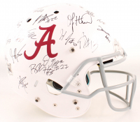 Alabama Crimson Tide Full-Size Authentic On-Field Helmet Signed By (23) With Damien Harris, O.J. Howard, Josh Jacobs, Eddie Jackson (JSA ALOA) at PristineAuction.com